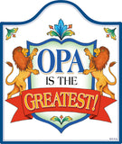 Decorative Ceramic Cheeseboard: Opa Is the Greatest - DutchNovelties  - 1