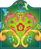 Green Rosemaling Ceramic Cheeseboard - DutchNovelties  - 1
