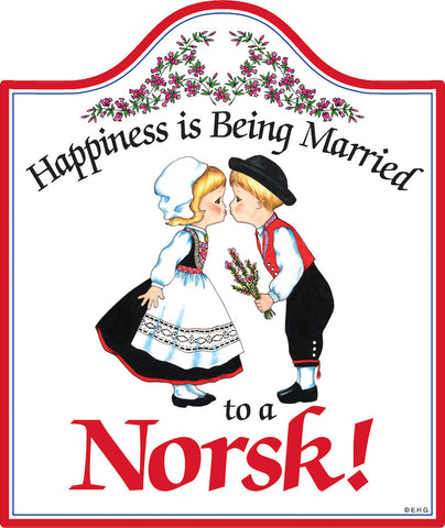 Cork Backed Ceramic Cheeseboard: Married Norsk - DutchNovelties  - 1
