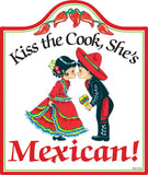 Cork Backed Ceramic Cheeseboard: Mexican Cook - DutchNovelties  - 1