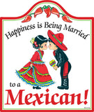 Cork Backed Ceramic Cheeseboard: Married Mexican - DutchNovelties  - 1
