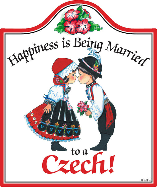 Cork Backed Ceramic Cheeseboard: Married Czech - DutchNovelties  - 1