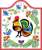 Cork Backed Ceramic Cheeseboard: Rooster - DutchNovelties  - 1
