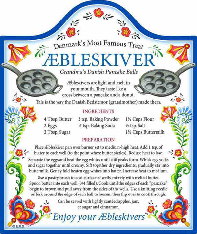 Aebleskiver Recipe: Decor Trivet - DutchNovelties