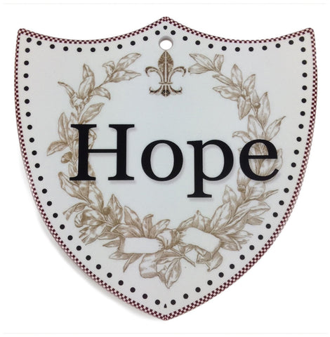 Ceramic Wall Decor: Hope - DutchNovelties  - 1
