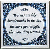 Worries Like Breadcrumbs Inspirational Wall Plaque - DutchNovelties  - 1