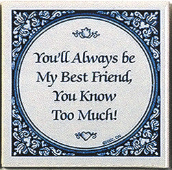 Tile Quotes: Always Best Friends.. - DutchNovelties  - 1