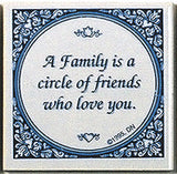 Tile Quotes: Family Circle Friends.. - DutchNovelties  - 1