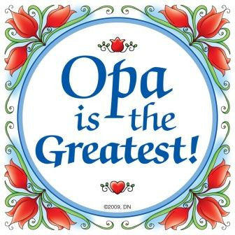 Gift for Opa Wall Plaque - DutchNovelties  - 1