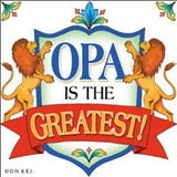 Gift For Opa Ceramic Wall Plaque Tile - DutchNovelties  - 1