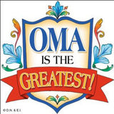 Gift For Oma Ceramic Wall Plaque Tile - DutchNovelties