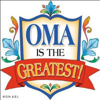 Gift For Oma Ceramic Wall Plaque Tile - DutchNovelties  - 1