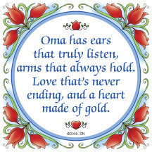 Oma Gift Decorative Wall Plaque: Oma Heart of Gold... - DutchNovelties  - 1
