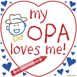 Opa Gift Wall Plaque: My Opa Loves Me! - DutchNovelties