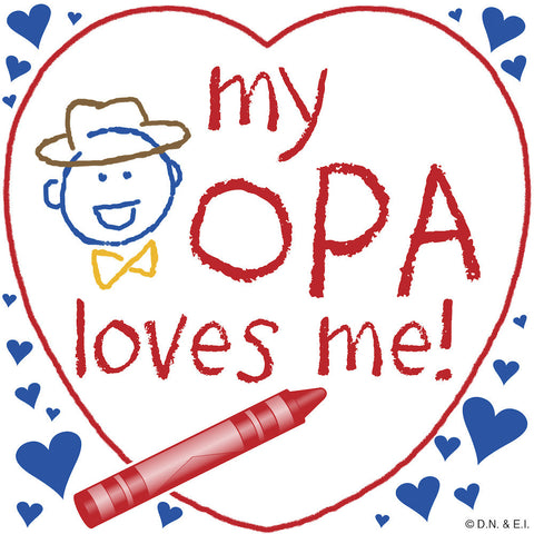 Opa Gift Wall Plaque: My Opa Loves Me! - DutchNovelties  - 1