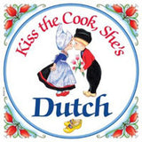 Dutch Gift Tile: Kiss Dutch Cook... - DutchNovelties