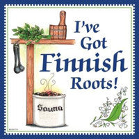 Finnish Souvenir Wall Plaque Finnish Roots... - DutchNovelties  - 1