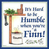 Finnish Souvenir Wall Plaque Humble Finn... - DutchNovelties