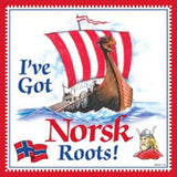 Norwegian Gift Idea Tile Norsk Roots... - DutchNovelties