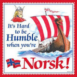 Norwegian Gift Idea Tile Humble Norsk... - DutchNovelties