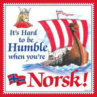 Norwegian Gift Idea Tile Humble Norsk... - DutchNovelties  - 1