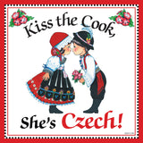 """Kiss Czech Cook"" Decorative Czech Gift Tile - DutchNovelties  - 1"