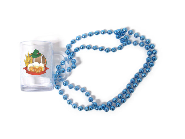 Oktoberfest Beads Beer Mug With Beer Barrel - DutchNovelties
