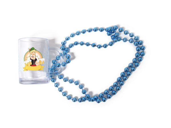 Oktoberfest Beads Beer Mug With German Lady - DutchNovelties