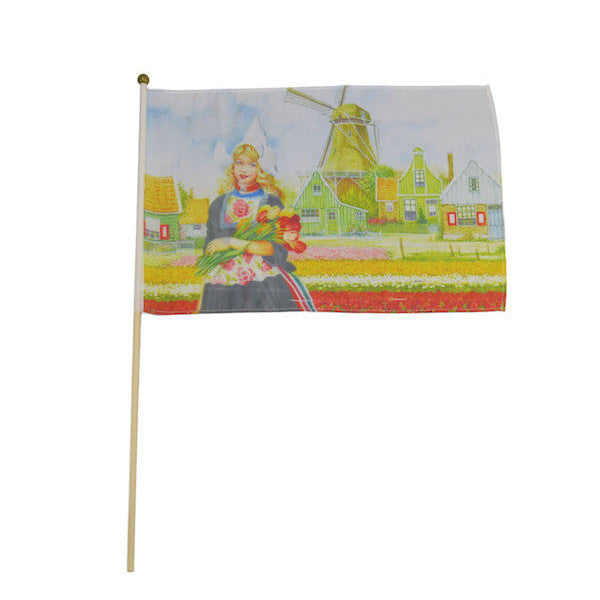 Tulip Girl Flag: - DutchNovelties