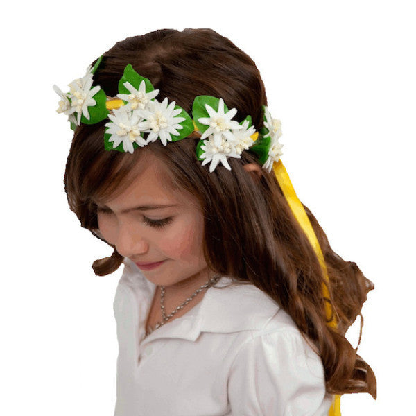 White Edelweiss Flower Bridal Flower Garland Headband - DutchNovelties  - 2