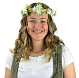 White Edelweiss Flower Bridal Flower Garland Headband - DutchNovelties  - 1
