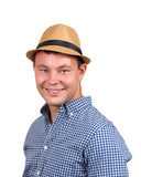 Fedora Hat Dark Khaki - DutchNovelties