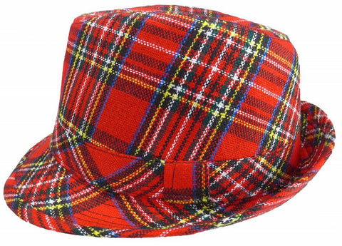 Fedora Hat Scottish Pattern Motif - DutchNovelties