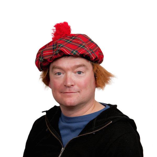 Scottish Costume Hat with Wig - DutchNovelties