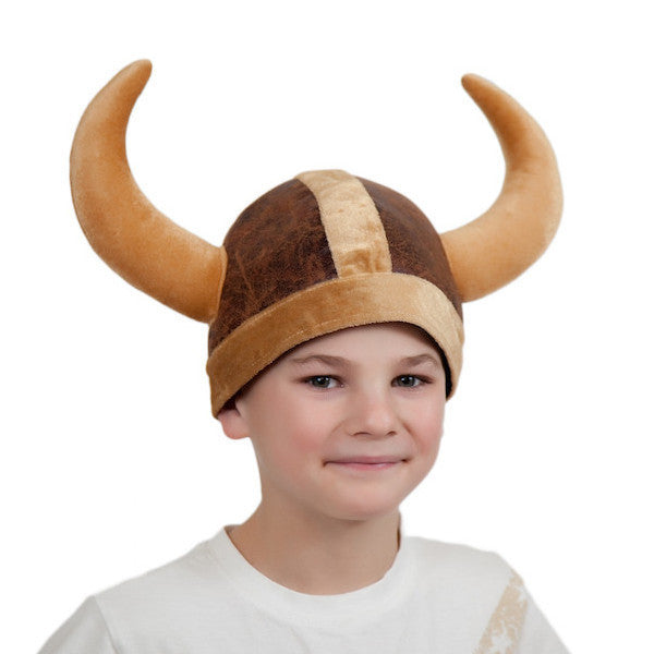 Norwegian Viking Hat: Brown Cloth - DutchNovelties