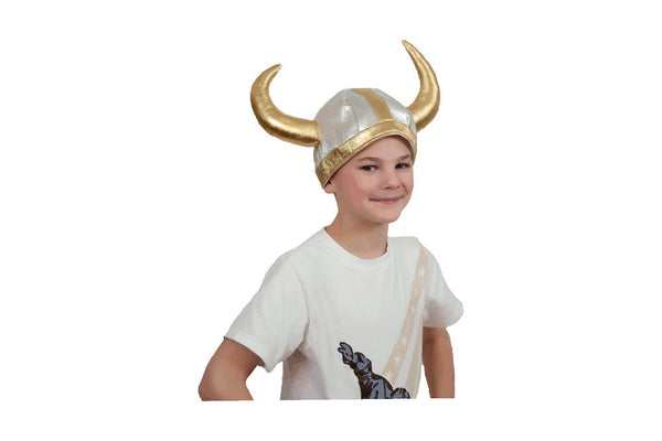 Cloth Viking Helmet: Silver - DutchNovelties  - 2