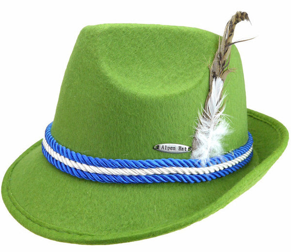 Oktoberfest Fedora Hat Mint - DutchNovelties