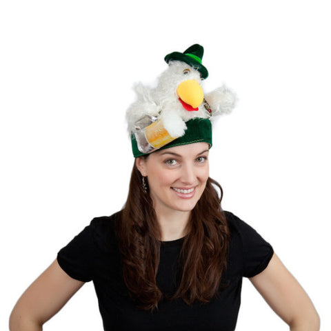 Chicken in Lederhosen Oktoberfest Hat - DutchNovelties  - 1