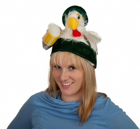 Chicken in Lederhosen Oktoberfest Hat w/music - DutchNovelties  - 1