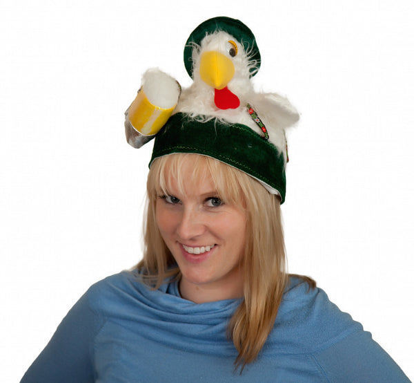Chicken in Lederhosen Oktoberfest Hat - DutchNovelties  - 2