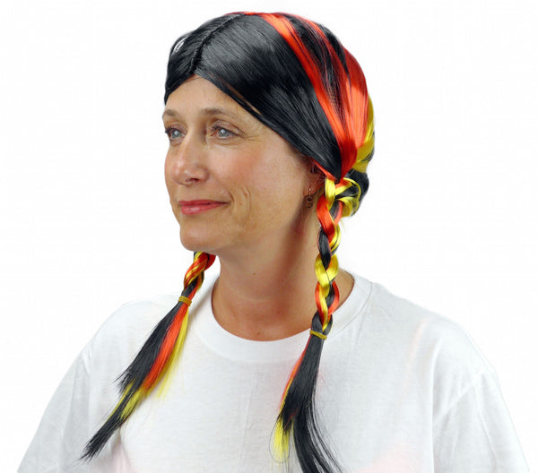 German Colors Oktoberfest Wig - DutchNovelties