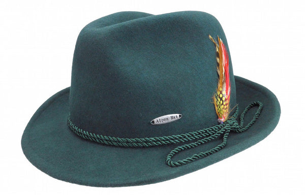 German Alpine Style Bavarian Green Wool Hat - DutchNovelties  - 1