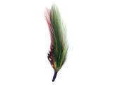 Green and Red Single Feather for Oktoberfest Hat - 2