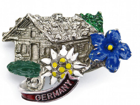 Austrian Hat Pin: Alpine Haus - DutchNovelties  - 1