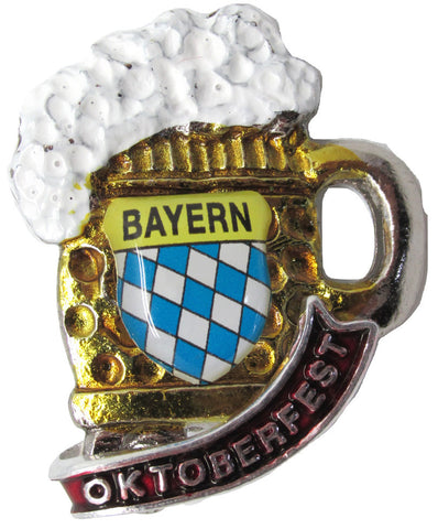 Austrian Hat Pin: German Beer Stein with Oktoberfest - DutchNovelties
