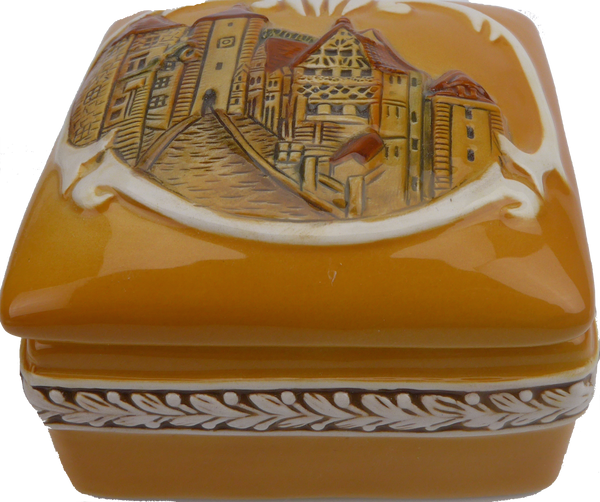 Square Jewelry Box: German Village - DutchNovelties