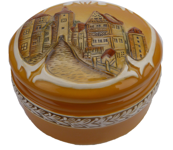 Round Jewelry Box: German Village - DutchNovelties