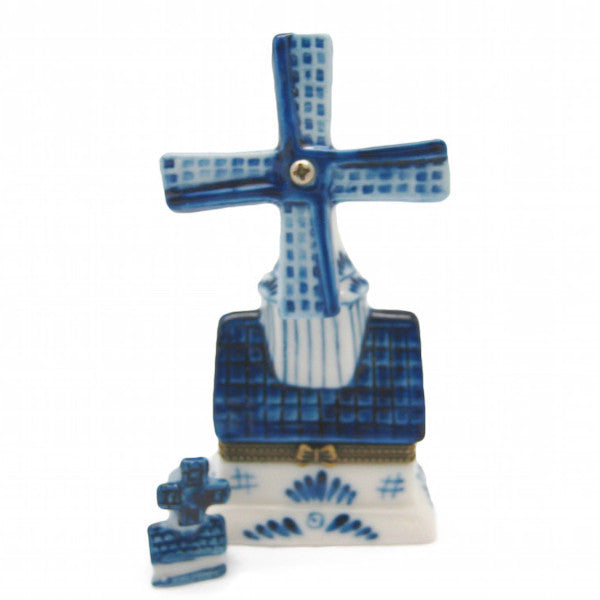 Delft Windmill Jewelry Box - DutchNovelties  - 1