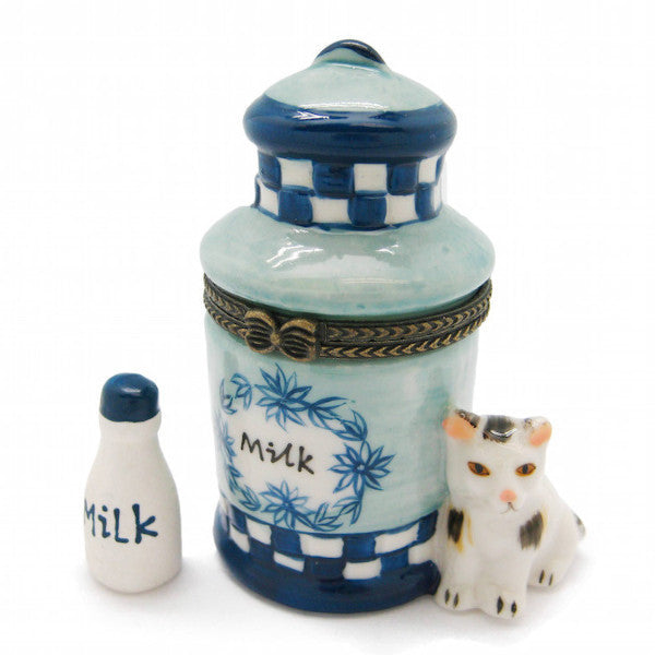 Dutch Gift Treasure Box Delft Blue Milk Can - DutchNovelties