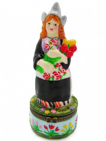 Small Jewelry Boxes Tulip Time Festival Girl - DutchNovelties
